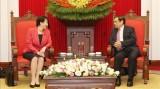 越共中央组织部部长范明正会见日本总务与传媒省大臣高市早苗