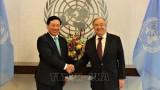 联合国秘书长与各国官员高度评价越南的国际地位