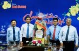 Đoàn lãnh đạo tỉnh thăm và chúc tết các cơ quan báo chí