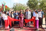 越柬友好纪念碑在柬埔寨磅湛省落成