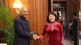 国家副主席邓氏玉盛会见印度总统科温德