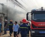 Kịp thời khống chế ngọn lửa tại công ty gỗ