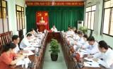 Lãnh đạo Tỉnh ủy làm việc với Thường trực Thị ủy Tân Uyên về công tác chuẩn bị tổ chức đại hội
