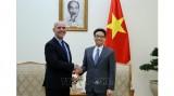 越南政府副总理武德儋会见国际社会保障协会秘书长 塞洛•阿比- 拉米亚•卡埃塔诺
