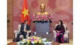 越南国会主席阮氏金银会见日本驻越南大使