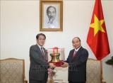 阮春福总理会见日本驻越大使梅田邦夫