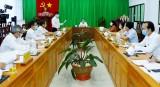 Đoàn công tác của Tỉnh ủy làm việc với Thường trực Huyện ủy Dầu Tiếng