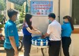 Hội LHTN phường An Bình (TP.Dĩ An): Xây bồn rửa tay phòng, chống dịch bệnh