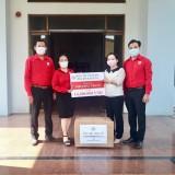Hội Chữ thập đỏ tỉnh: Tiếp tục trao tặng khẩu trang cho nhiều đơn vị