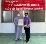 Chùa Phật Học ủng hộ tiền phòng, chống dịch bệnh Covid-19
