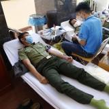 """Công an tỉnh Bình Dương: Hưởng ứng Ngày """"Toàn dân hiến máu tình nguyện"""""""