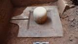 由整个石头制成的「林伽」和「瑜尼」组合在美山世界文化遗产出土