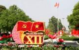 TX.Tân Uyên: Phố phường rực rỡ cờ, hoa đón mừng Đại hội Đảng bộ thị xã lần thứ XII