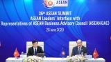 越南政府总理阮春福主持东东盟领导人与东盟商务咨询理事会对话会