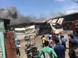 Cháy lớn tại công ty gỗ rộng 5.000m2