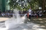 Tập huấn kỹ năng phòng cháy thoát hiểm cho học sinh