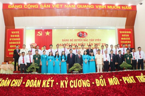 Bế mạc Đại hội đại biểu Đảng bộ huyện Bắc Tân Uyên lần thứ XII, nhiệm kỳ 2020- 2025: Đoàn kết, đồng thuận để phát triển nhanh, toàn diện và bền vững hơn