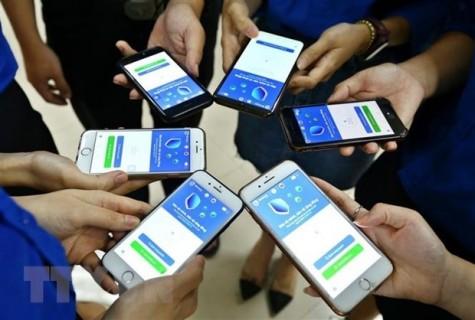 新冠肺炎疫情:每天有100万越南人下载安装电子口罩蓝区应用程序
