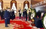 Lãnh đạo các cấp của Trung Quốc đến viếng nguyên TBT Lê Khả Phiêu
