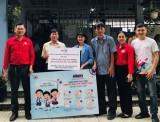 省红十字协会:向新渊市各所小学赠送洗手液