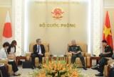 越南国防部副部长阮志咏上将接见日本新任驻越大使山田贵雄