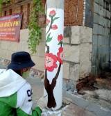 Phường đoàn Hiệp Thành (TP.Thủ Dầu Một): Thực hiện công trình thanh niên trụ điện nở hoa