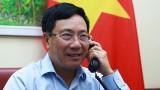 越南政府副总理兼外交部长范平明与德国外交部长海科·马斯通电话