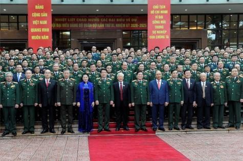 越共中央总书记、国家主席阮富仲出席越共军队第十一次代表大会开幕式