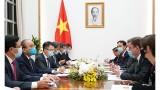越南政府总理阮春福会见英国国际贸易部副部长及英国企业能源公司总裁