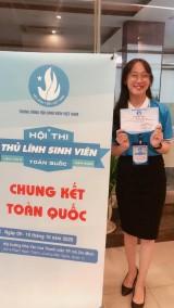 Hội thi Thủ lĩnh sinh viên toàn quốc: Chị Trương Diễm Linh, Chủ tịch Hội Sinh viên trường Đại học Thủ Dầu Một đạt giải ba