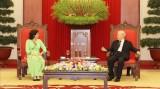 越共中央总书记、国家主席阮富仲会见古巴驻越南大使利亚尼斯·托雷斯·里维拉