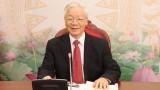 越共中央总书记、国家主席阮富仲与古巴共产党中央委员会第一书记劳尔•卡斯特罗通电话