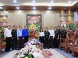 Lãnh đạo Tỉnh đoàn Bình Dương thăm, chúc mừng 76 năm ngày thành lập Quân đội nhân dân Việt Nam