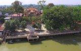 An antique pagoda on Dong Nai River