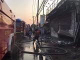 Hỏa hoạn thiêu rụi hàng trăm xe máy trong cửa hàng bán xe, ước tính thiệt hại hàng tỷ đồng