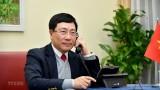 越南政府副总理兼外长范平明与美国国务卿安东尼·布林肯通电话