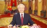 越共中央总书记、国家主席阮富仲发表二〇二一辛丑年新年贺词