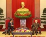 越共中央总书记、国家主席阮富仲会见中国国务委员、公安部部长赵克志