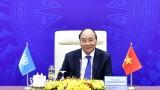 越南政府总理阮春福出席联合国安理会高级别视频公开辩论会