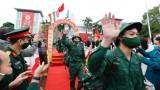河内市等地举行2021年度新兵交接仪式