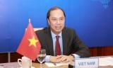 越南外交部副部长阮国勇与德国外交部国务部长会谈