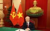越共中央总书记阮富仲与俄罗斯总统普京通电话