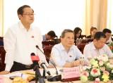 Đoàn kiểm tra, giám sát Ủy ban Thường vụ Quốc hội, Hội đồng Bầu cử Quốc gia kiểm tra công tác chuẩn bị bầu cử tại TP.Thuận An
