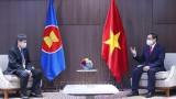 越南政府总理范明正会见东盟秘书长林玉辉