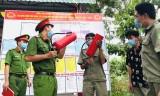 Tập huấn phòng chống cháy, nổ cho lực lượng cơ sở tại các điểm bầu cử