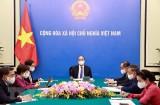 国家主席阮春福与法国总统埃马纽埃尔·马克龙通电话