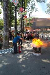 Tập huấn phòng cháy chữa cháy cho tổ hướng dẫn bầu cử