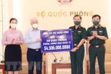 Trao hơn 54,5 tỷ đồng cho Bộ Quốc phòng phục vụ phòng, chống dịch