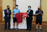 Ambassador encourages national men's football squad ahead of World Cup qualifiers