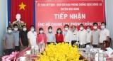Ủy ban MTTQ Việt Nam huyện Bàu Bàng: Tiếp nhận ủng hộ phòng, chống Covid-19 từ các doanh nghiệp